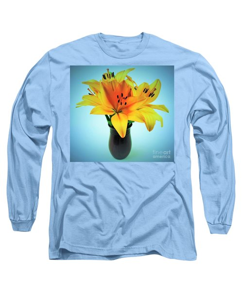 Long Sleeve T-Shirt featuring the photograph Beautiful Royal Lilies  by Ray Shrewsberry