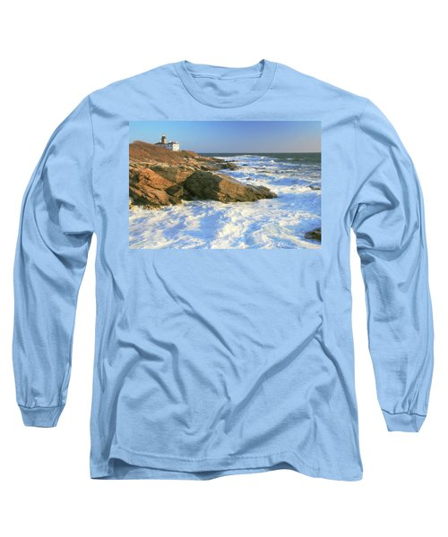 Long Sleeve T-Shirt featuring the photograph Beavertail Point And Lighthouse  by Roupen  Baker
