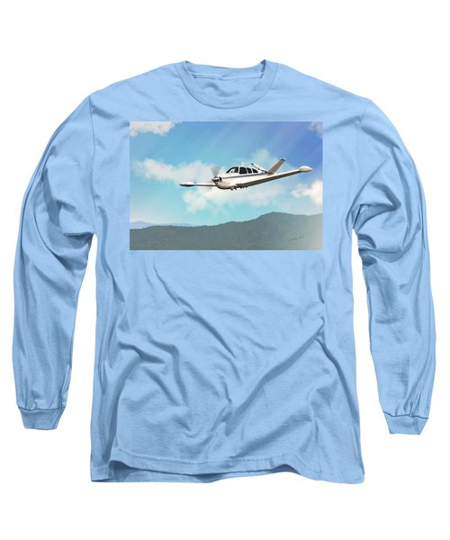 Beechcraft Bonanza V Tail Long Sleeve T-Shirt