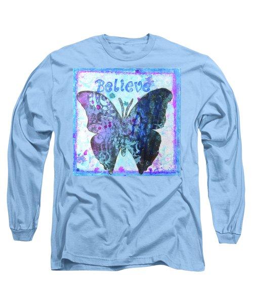 Believe Butterfly Long Sleeve T-Shirt