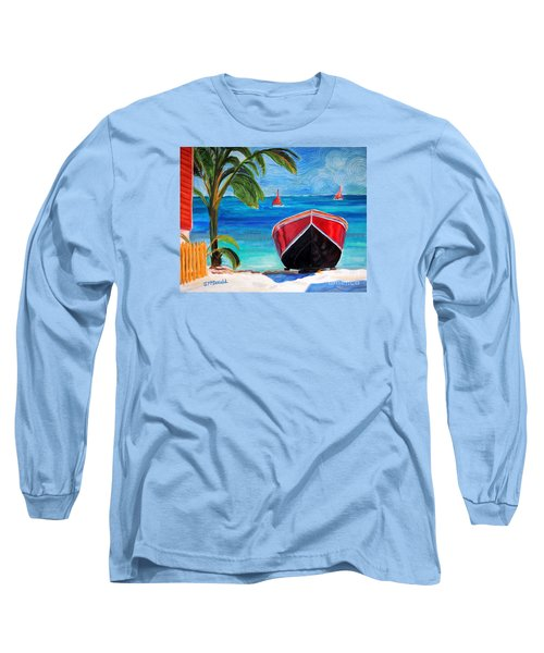 Belizean Dream Long Sleeve T-Shirt by Janet McDonald