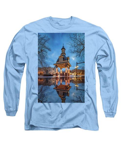 Bell Tower  In Beaver  Long Sleeve T-Shirt by Emmanuel Panagiotakis