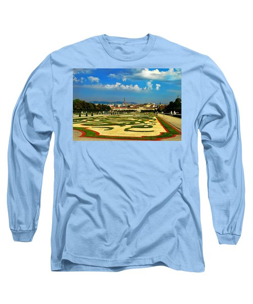 Long Sleeve T-Shirt featuring the photograph Belvedere Palace Gardens by Mariola Bitner