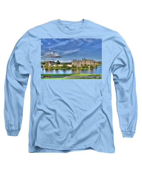 Bench View Of Leeds Castle Long Sleeve T-Shirt
