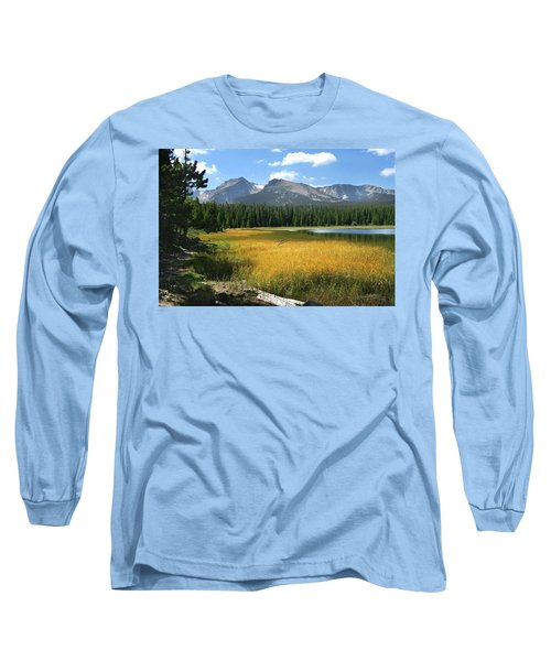 Autumn At Bierstadt Lake Long Sleeve T-Shirt by David Chandler