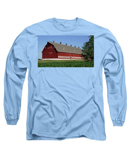 Big Red Barn In Spring Long Sleeve T-Shirt