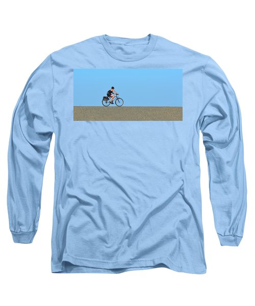 Bike Rider On Levee Long Sleeve T-Shirt