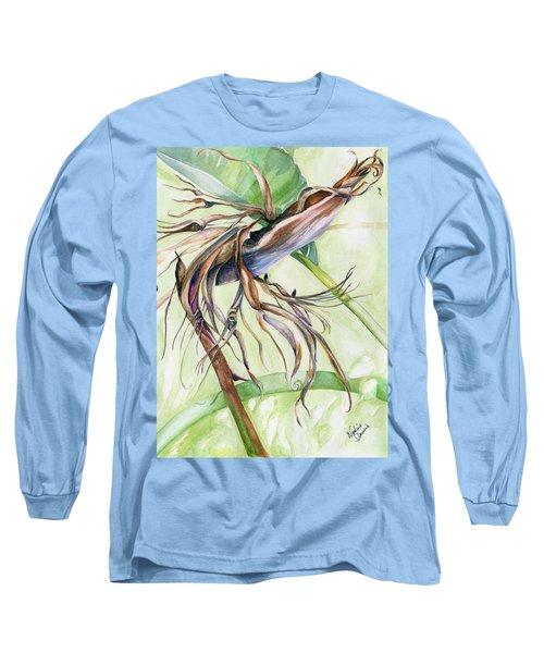 Bird Of Paradise, A Faded Beauty Long Sleeve T-Shirt