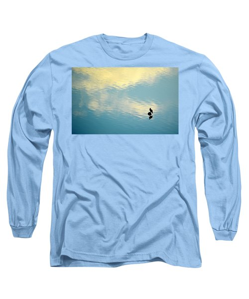 Long Sleeve T-Shirt featuring the photograph Bird Reflection by AJ Schibig