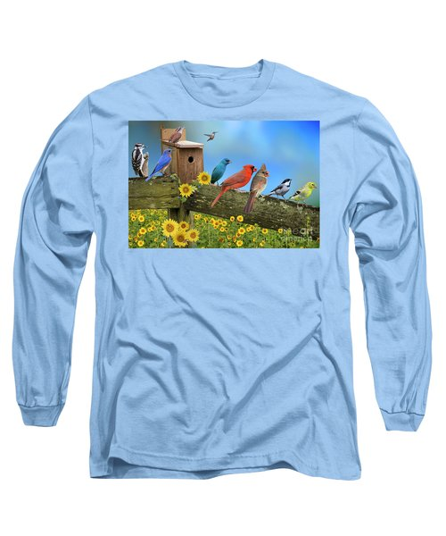 Birds Of A Feather Long Sleeve T-Shirt by Bonnie Barry