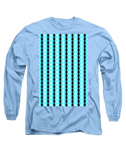 Black And Blue Diamonds Long Sleeve T-Shirt