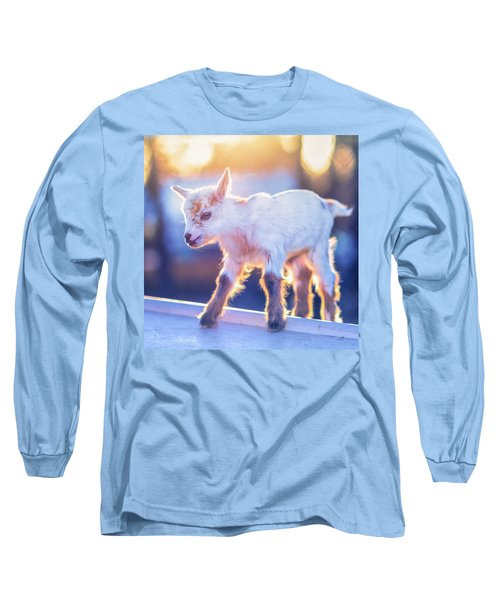 Little Baby Goat Sunset Long Sleeve T-Shirt