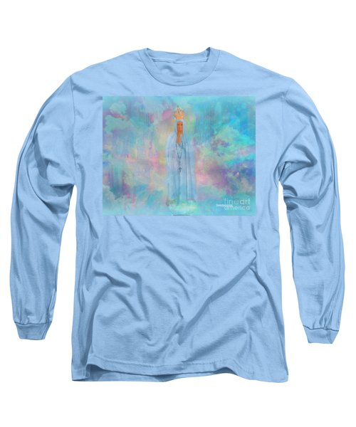 Blessed Mother Of Jesus Long Sleeve T-Shirt by Sherri's Of Palm Springs