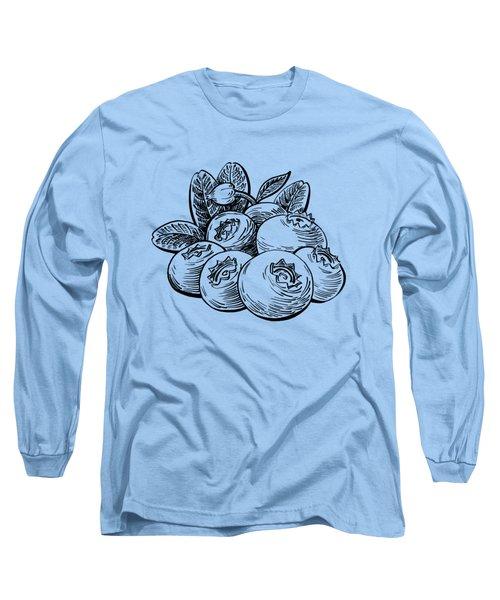 Blueberries Group Long Sleeve T-Shirt by Irina Sztukowski