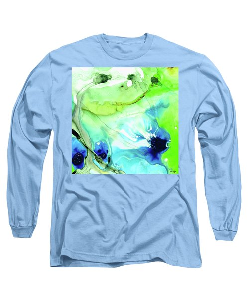 Blue And Green Abstract - Land And Sea - Sharon Cummings Long Sleeve T-Shirt