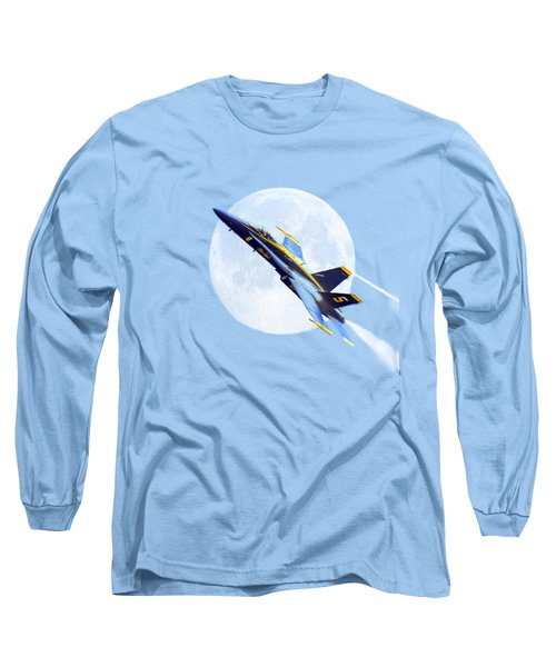 Blue Angel For T-shirt Long Sleeve T-Shirt