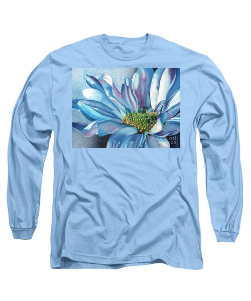 Long Sleeve T-Shirt featuring the painting Blue by Angela Armano