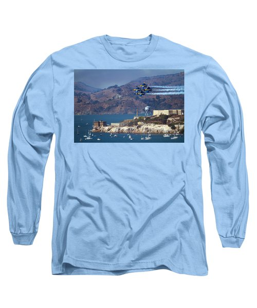 Blue Angels Over Alcatraz Long Sleeve T-Shirt