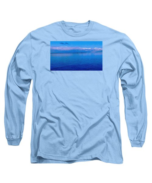 Long Sleeve T-Shirt featuring the photograph Blue Blue Sea by Vicky Tarcau