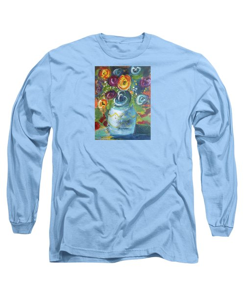 Blue Bouquet Long Sleeve T-Shirt