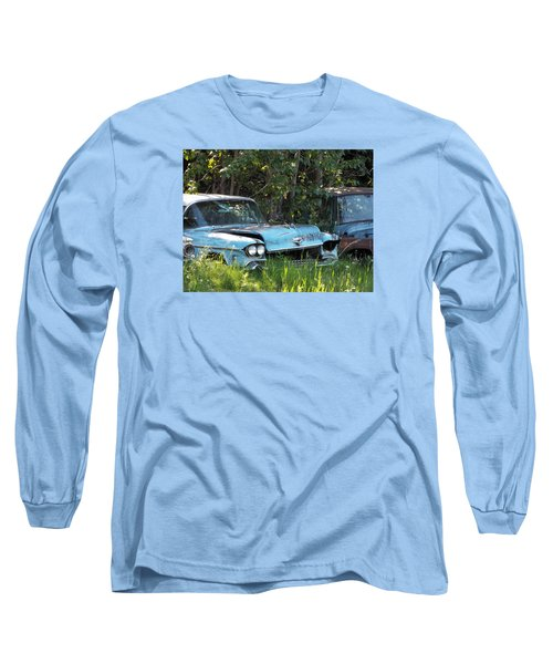 Blue Cadillac Long Sleeve T-Shirt