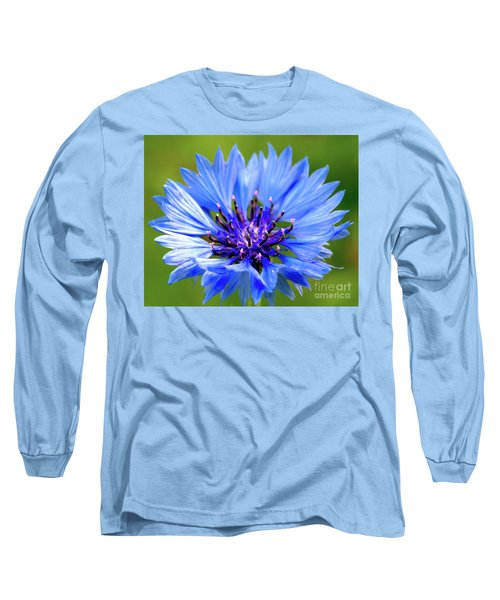Blue Cornflower Long Sleeve T-Shirt