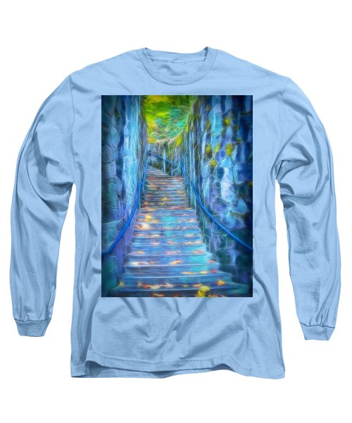Blue Dream Stairway Long Sleeve T-Shirt