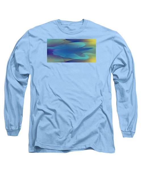 Long Sleeve T-Shirt featuring the digital art Blue Fog I by David Klaboe