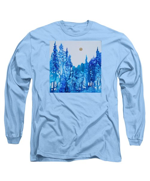 Blue Forest Long Sleeve T-Shirt by Suzanne Canner