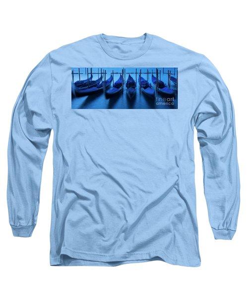 Long Sleeve T-Shirt featuring the photograph Blue Gondolas by Brian Jannsen
