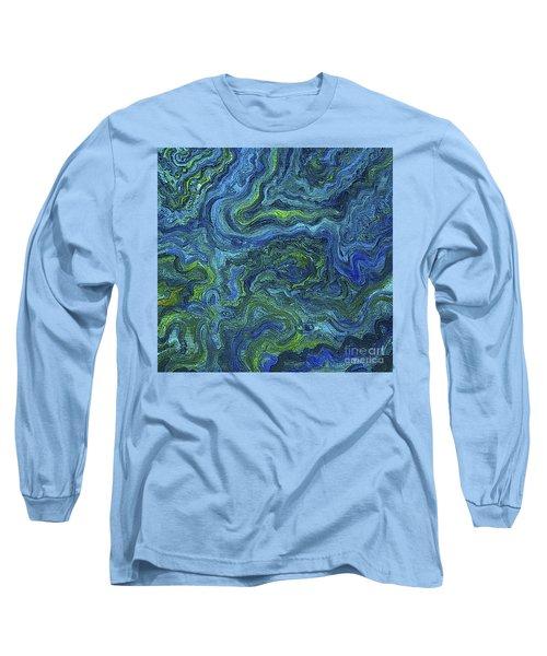 Blue Green Texture Long Sleeve T-Shirt