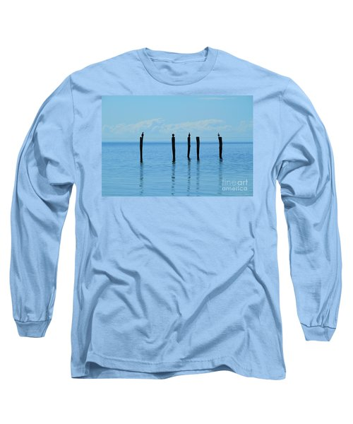 Long Sleeve T-Shirt featuring the photograph Blue Horizon by Stephen Mitchell