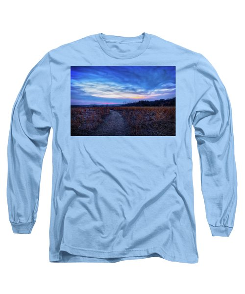 Blue Hour After Sunset At Retzer Nature Center Long Sleeve T-Shirt by Jennifer Rondinelli Reilly - Fine Art Photography