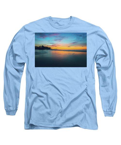 Blue Hour At Carmel, Ca Beach Long Sleeve T-Shirt