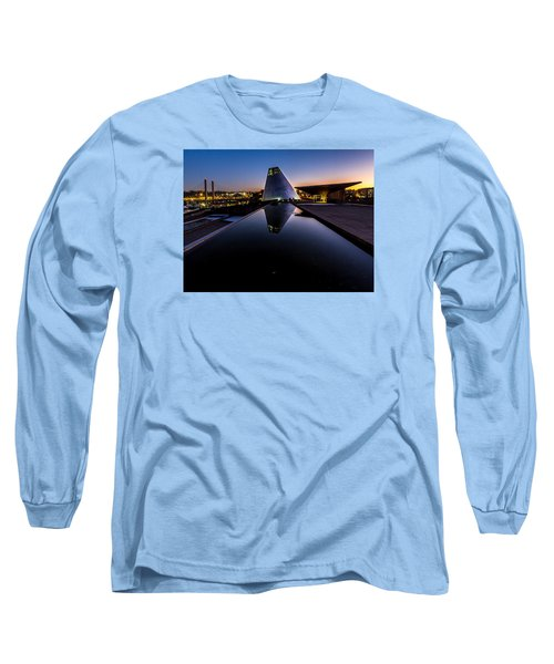 Long Sleeve T-Shirt featuring the photograph Blue Hour Reflections On Glass by Rob Green