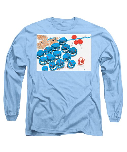 blue Macaroons for golden gal Long Sleeve T-Shirt
