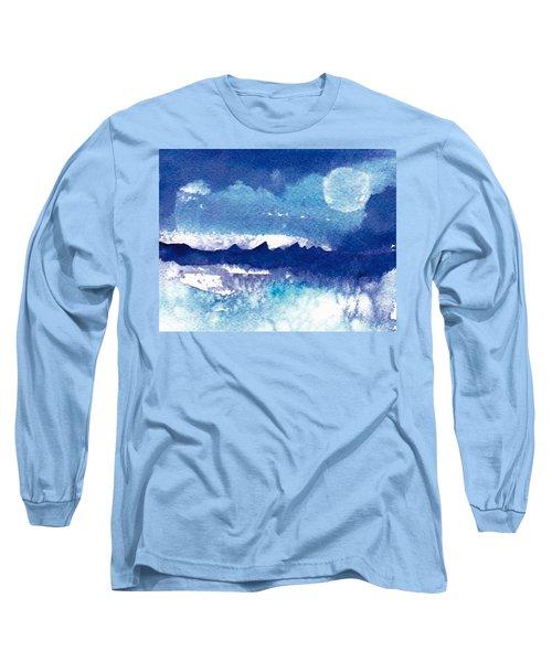 Blue Mohave Moon Long Sleeve T-Shirt