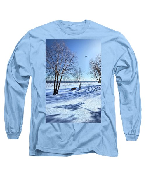 Long Sleeve T-Shirt featuring the photograph Blue On Blue by Phil Koch