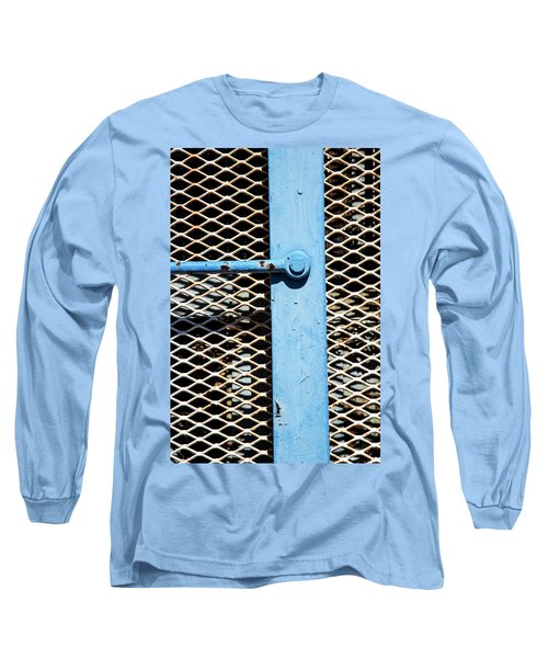 Long Sleeve T-Shirt featuring the photograph Blue On White by Karol Livote