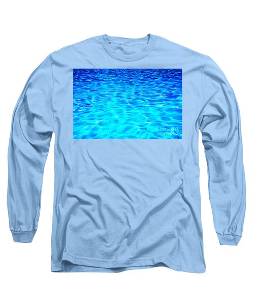 Long Sleeve T-Shirt featuring the photograph Blue Or Green by Ramona Matei