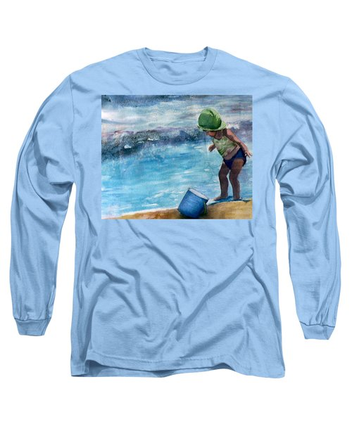 Blue Pail Long Sleeve T-Shirt