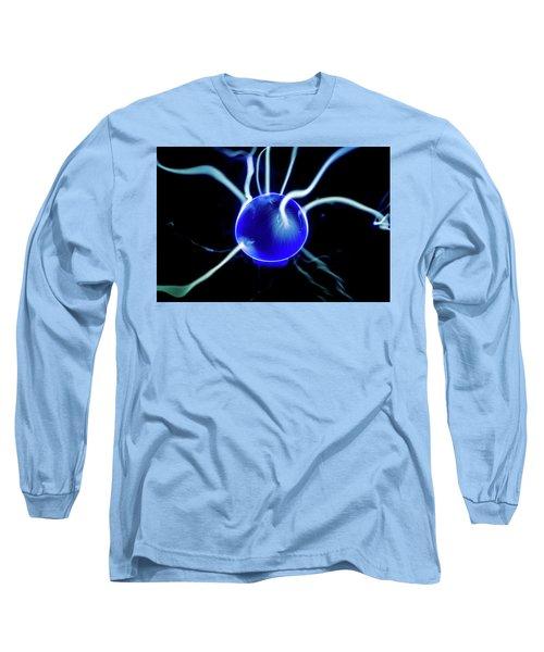Blue Plasma Long Sleeve T-Shirt