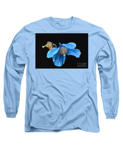 Blue Poppies Long Sleeve T-Shirt by Cindy Manero