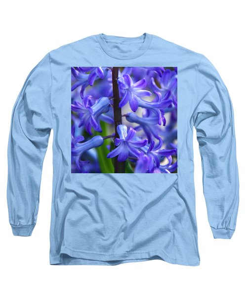 Long Sleeve T-Shirt featuring the photograph Blue Rhapsody by Byron Varvarigos
