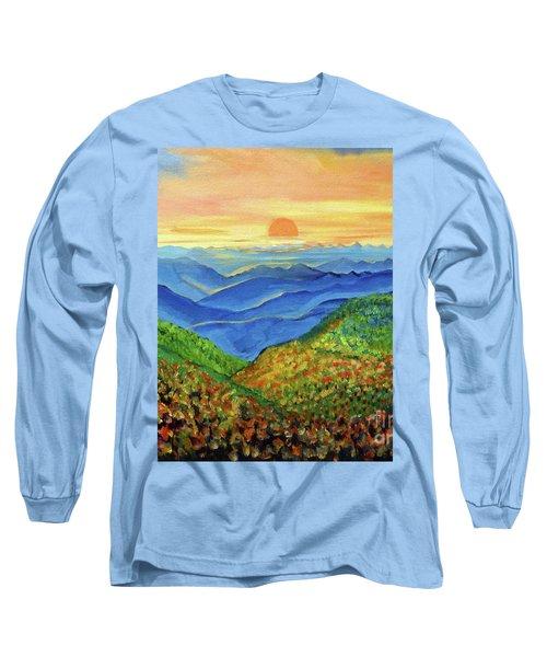 Blue Ridge Mountain Morn Long Sleeve T-Shirt