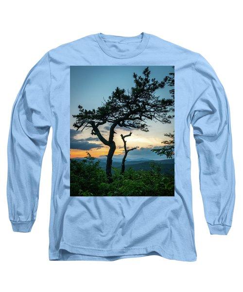 Blue Ridge Mountains Dr. Tree Long Sleeve T-Shirt