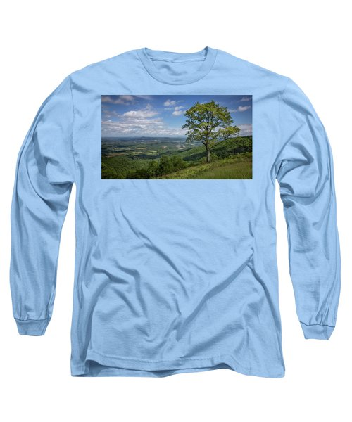 Blue Ridge Parkway Scenic View Long Sleeve T-Shirt