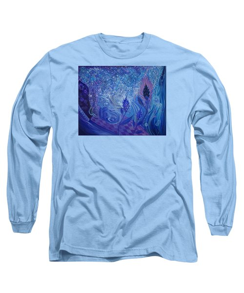 Blue Rosebud Ballroom Long Sleeve T-Shirt