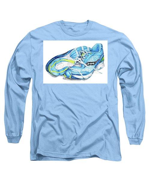 Blue Running Shoes Long Sleeve T-Shirt