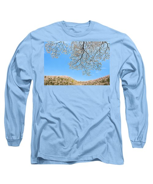 Long Sleeve T-Shirt featuring the photograph Blue Skies And Dogwood by Tamyra Ayles
